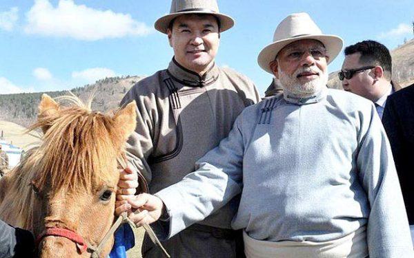 PM Modi in Mongolia