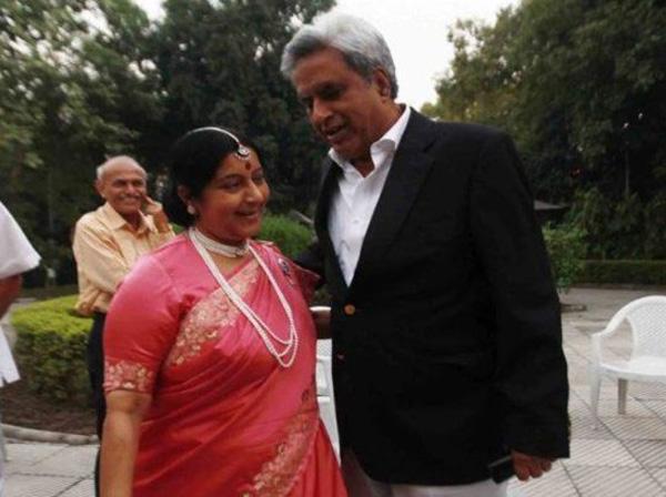 sushma swaraj, kaushal swaraj, love story, sushma swaraj marriage, sushma swaraj husband