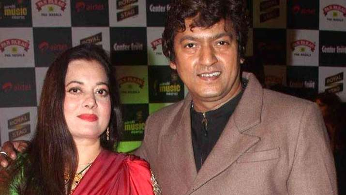 Vijayta Pandit with husband Aadesh Shrivastava