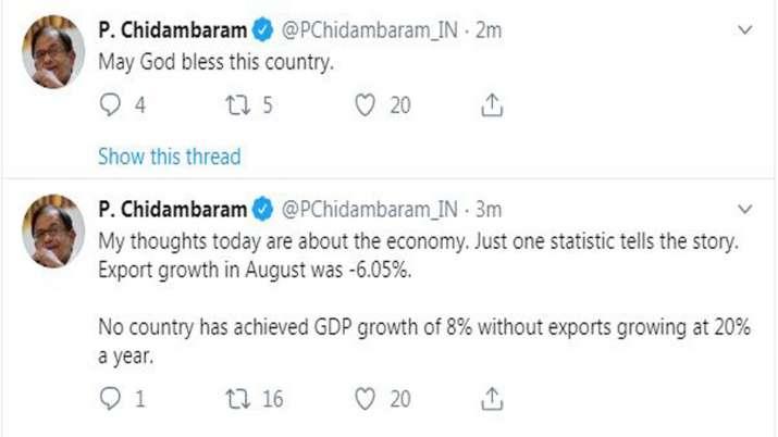 P Chidambaram Tweets