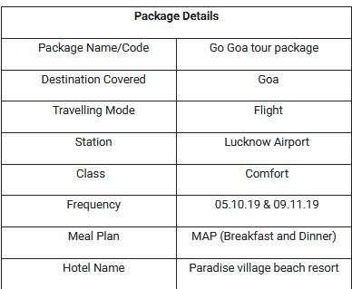 Go Goa Tour Package
