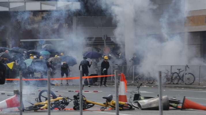 Hong Kong police slammed in fresh protests over shooting of teenage boy   AP