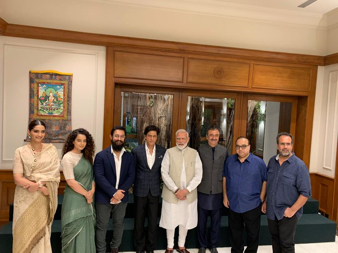 PM Modi with Bollywood Stars