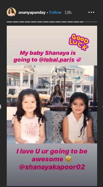 instagram story of ananya panday