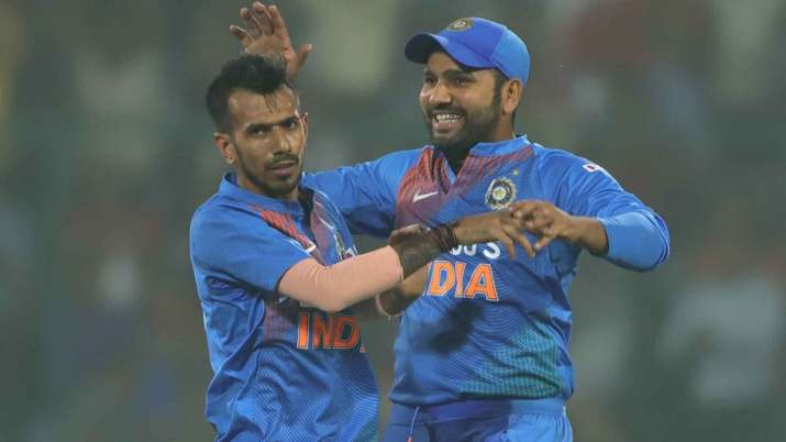 Yuzvendra Chahal and Rohit Sharma