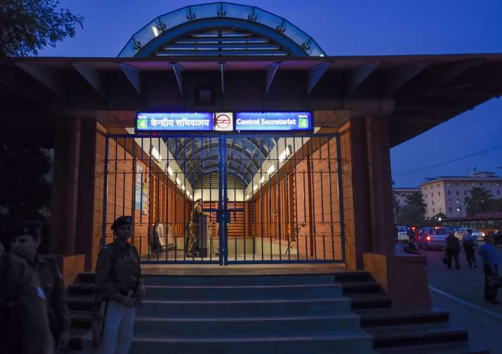 JNU Protest Metro