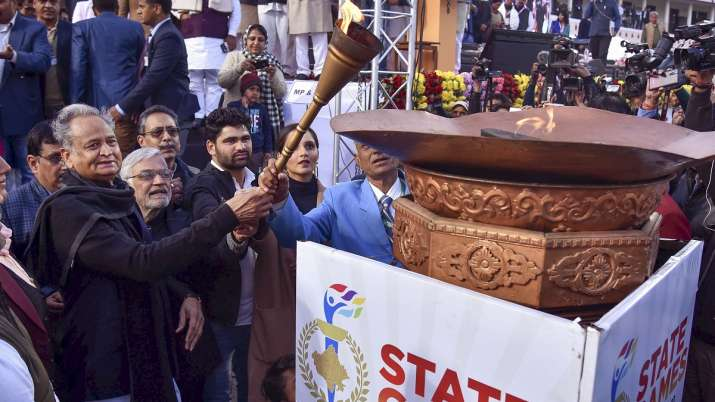 Ashok Gehlot during the inaugural session of State Games