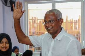 Opposition leader Ibrahim Mohamed Solih tells supporters he won Maldives election   AP- India TV