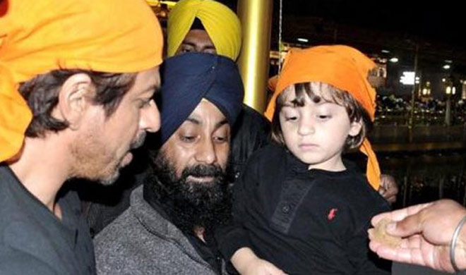 Shah rukh Khan with AbRam