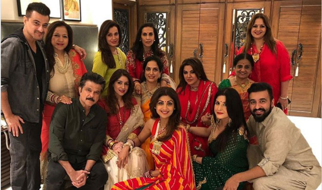 Bollywood Actress Karwa Chauth Celebration-Sridevi, Raveena Tandon, Shilpa Shetty