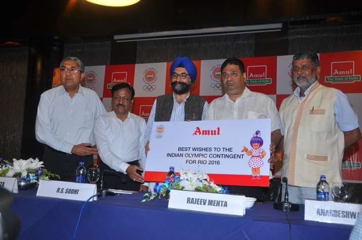 Amul associates with Indian Olympic Association for Rio...- India TV