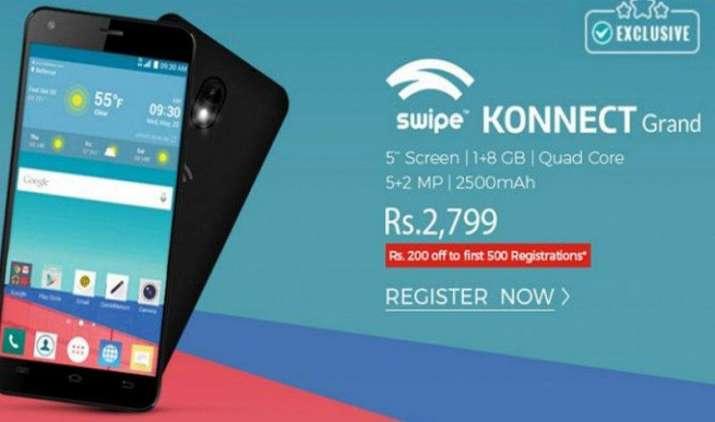 स्वाइप ने पेश किया 4G VoLTE सपोर्ट से लैस कनेक्ट ग्रांड, शॉपक्लूज पर कीमत 2799 रुपए- India TV Paisa