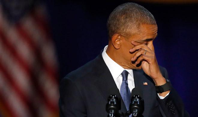 barack obama got emotional during his farewell speech- Khabar IndiaTV