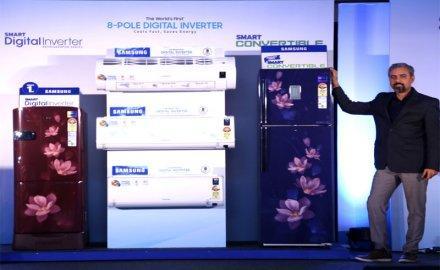 Samsung ने लॉन्च किया दुनिया का पहला सोलर-पावर्ड रेफ्रिजरेटर और 8-पोल डिजिटल इन्वर्टर AC- IndiaTV Paisa
