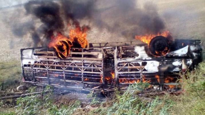 banda_bus_fire- Khabar IndiaTV