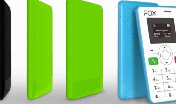 फॉक्स मोबाइल्स ने लॉन्च किया नन्हा फीचर फोन, साइज इतना छोटा कि आपके वॉलेट में आ जाए- India TV Paisa