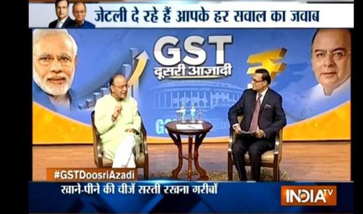 GST Doosri Azadi: वित्त मंत्री अरुण जेटली ने बताया GST में क्यों रखी गई हैं टैक्स की चार दरें, यह है वजह- IndiaTV Paisa