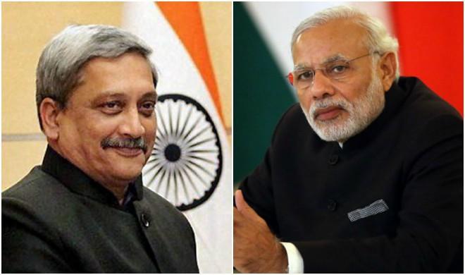 PM modi and Manohar Parrikar- Khabar IndiaTV