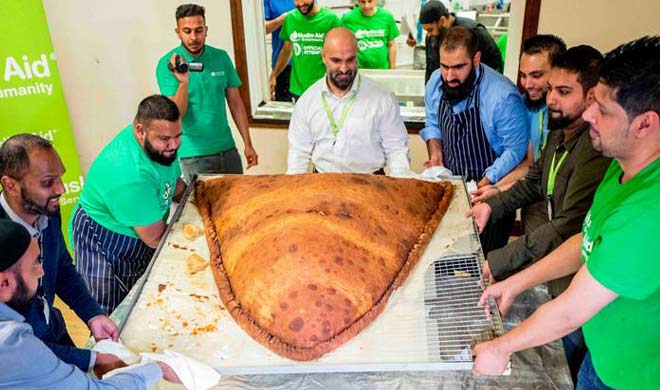 The world largest samosa made in London included in the...- India TV