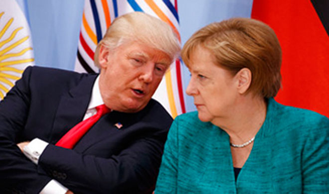 Donald Trump and Angela Merkel- Khabar IndiaTV