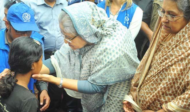 sheikh hasina visit rohingya Refugee camps- Khabar IndiaTV