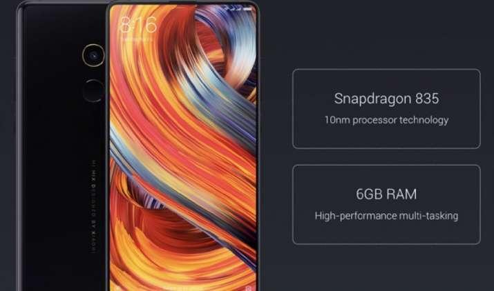 Xiaomi ने भारत में लॉन्च किया Mi MIX 2 स्मार्टफोन, बैजल-लैस डिसप्ले और 6GB रैम से है लैस- IndiaTV Paisa