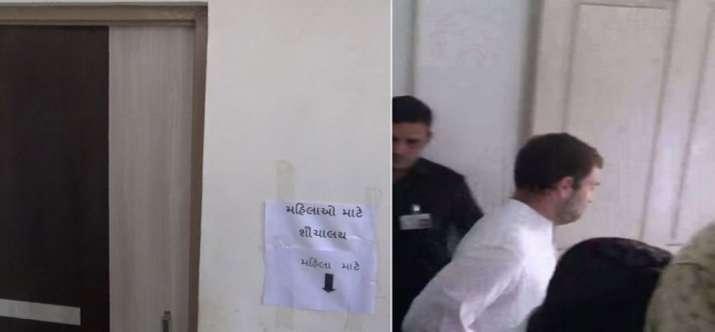Rahul-Gandhi-ladies-toilet- Khabar IndiaTV