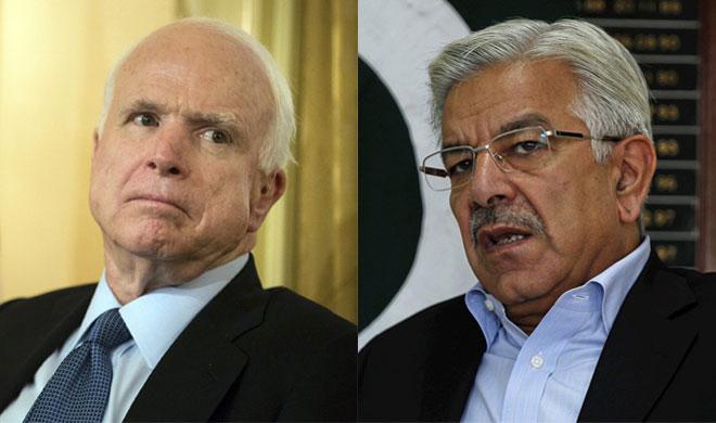 John McCain and Khawaja Asif- India TV