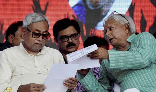 Nitish Kumar and Lalu Yadav | PTI Photo- Khabar IndiaTV