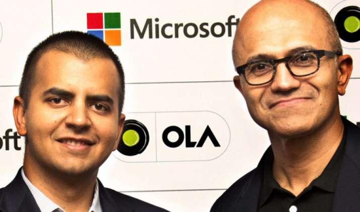 कनेक्टेड व्हीकल प्लेटफॉर्म तैयार करने के लिए Ola ने माइक्रोसॉफ्ट के साथ मिलाया हाथ- India TV Paisa