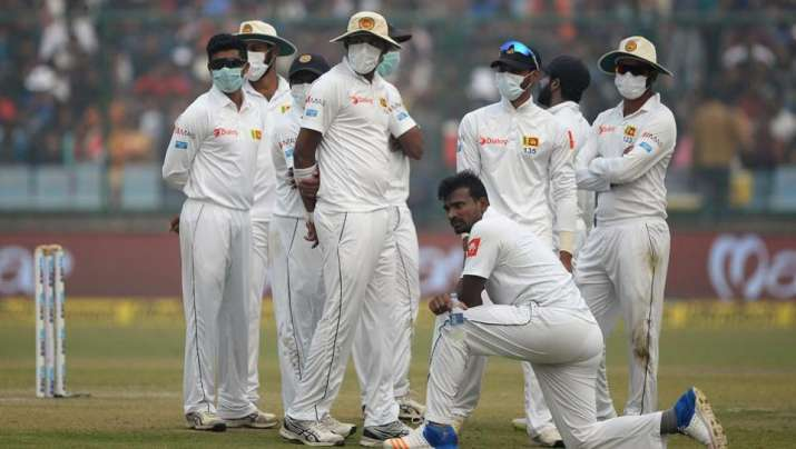 Sri Lankans players wearing mast during Delhi Test- Khabar IndiaTV