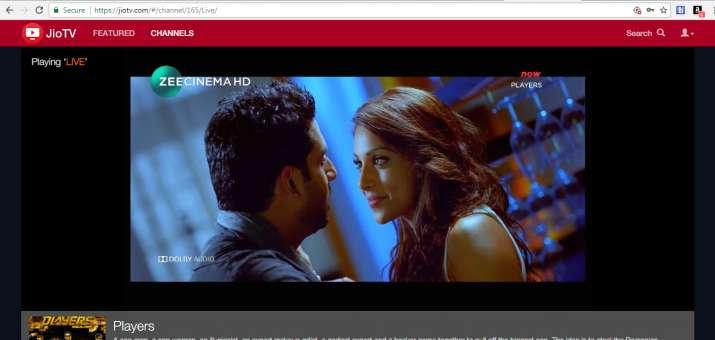 Jio TV Web Version- India TV Paisa