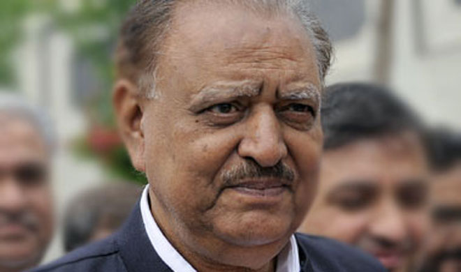 Mamnoon Hussain | AP Photo- Khabar IndiaTV