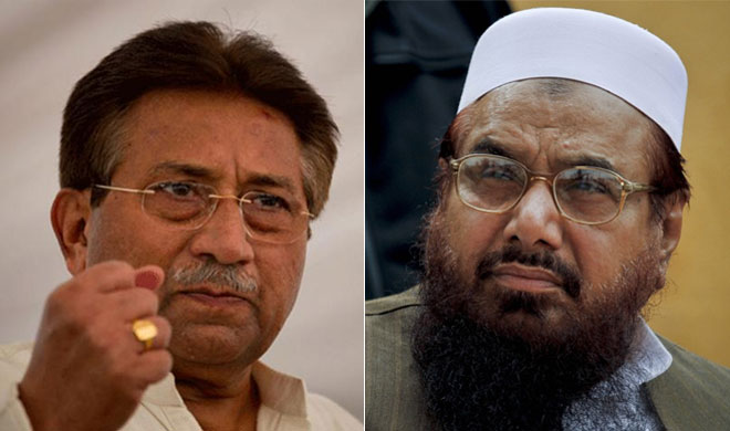 Pervez Musharraf and Hafiz Saeed | AP Photo- Khabar IndiaTV