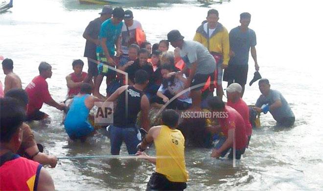 Philippine ferry capsizes   AP Photo- India TV