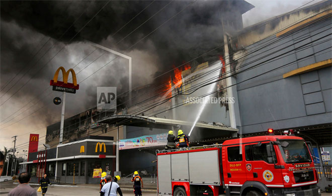 Philippines Mall Fire | AP Photo- India TV