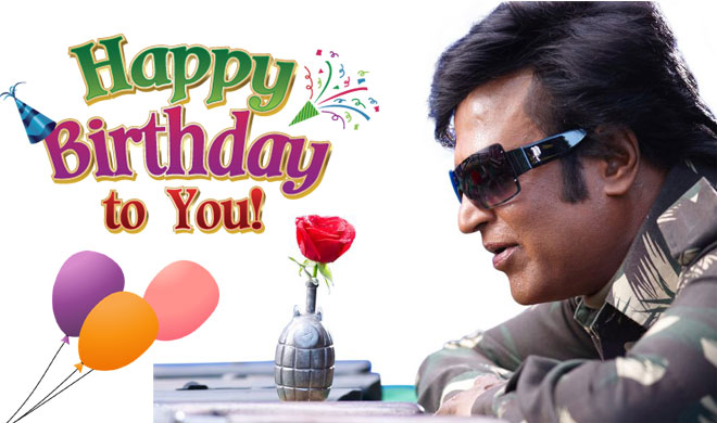 Happy Birthday Rajinikanth फ ल म स त र स इस