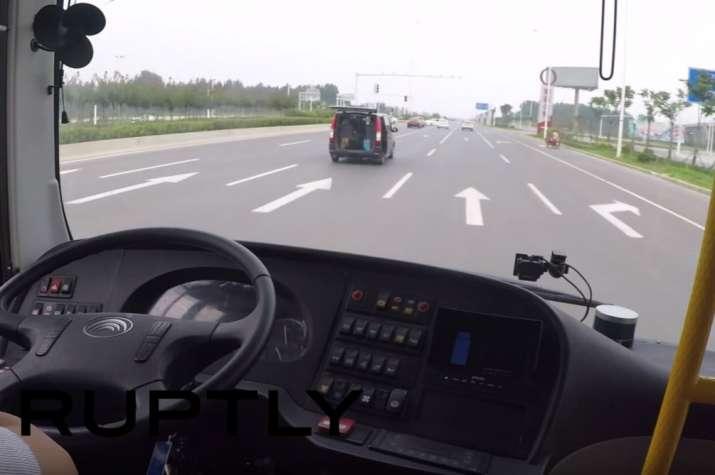 China Driverless Bus- India TV Paisa