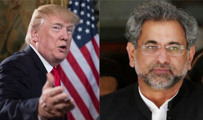 Donald Trump and Shahid Khaqan Abbasi | AP Photo- Khabar IndiaTV