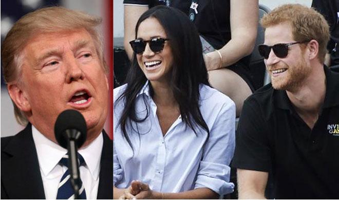 Donald Trump, Meghan Markle and Prince Harry | AP Photo- India TV