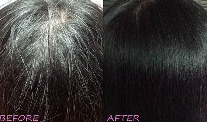 how to turn white hair into black permanently