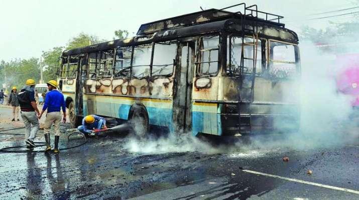 Padmaavat-Row-FIR-against-Karni-Sena-for-attack-on-Gurgaon-school-bus- India TV
