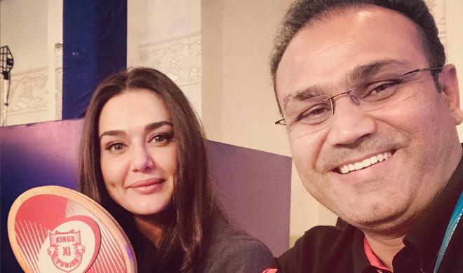 प्रीति जिंटा, वीरेंद्र सहवाग- India TV