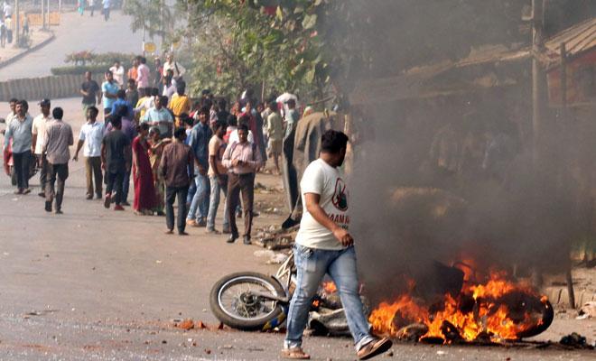 maharashtra bandh protestors- India TV