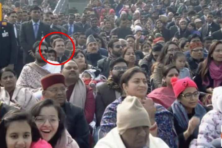 Rahul-Gandhi-attends-Republic-Day-Parade-sits-in-at-row-6- India TV