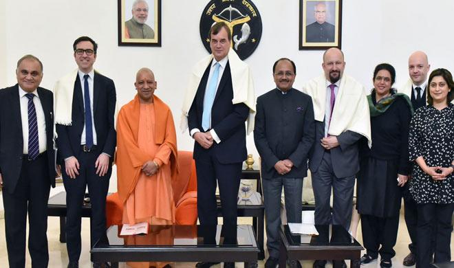 yogi adityanath with British delegation- India TV
