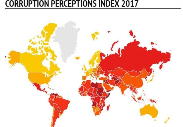 CORRUPTION PERCEPTIONS INDEX 2017- India TV Paisa