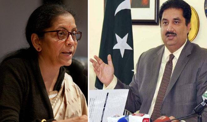 nirmala sitharaman and khurram dastgir- Khabar IndiaTV