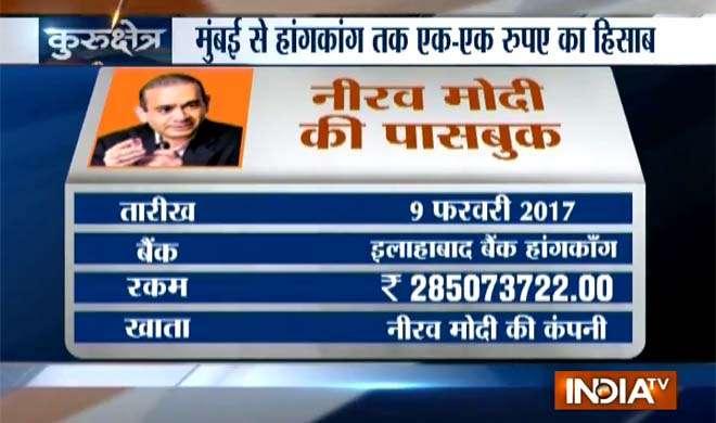 Nirav modi passbook- India TV