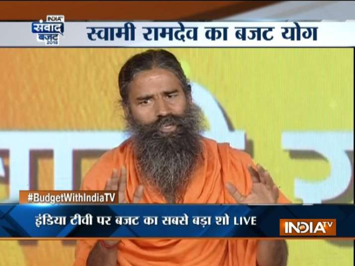 Baba Ramdev in Budget Samvad event of INDIA TV- India TV Paisa